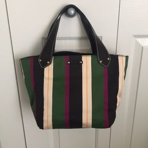 Kate Spade striped bucket bag